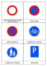 Pexeso dopravné značky 12 kusov, 1.strana