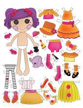 Vystrihni bábiku a kombinuj oblečenie