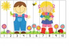 Puzzle, deti a príroda