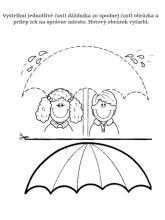 Vystrihni a prilep, dáždnik