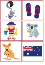 Priraď tiene Australia 1