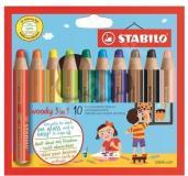 Robustné ceruzky 3 v 1 pre deti od 3 rokov