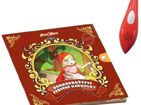 Rozprávková knižka o Červenej Čiapočke s interaktívnym perom