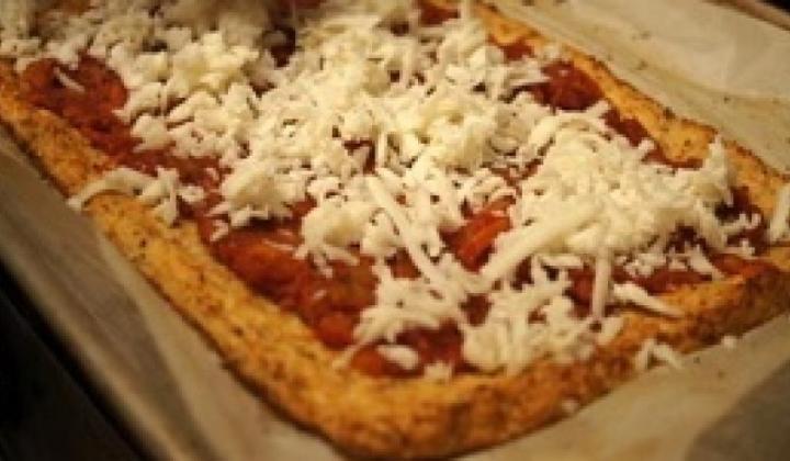 Šokujúce pizza cesto z karfiolu