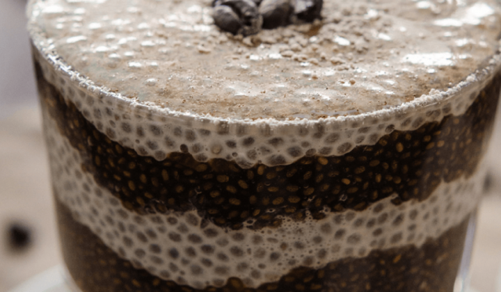 Vanilkové latte s Chia semienkami